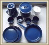 12-pcs Blue Enamelware Set, Enamel Dinnerware Set, Enamel Tableware Set