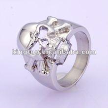 2012 fashion jewelry silver skull ring