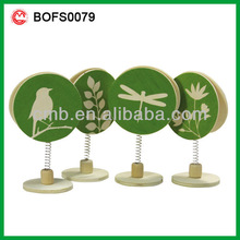 ECO FRIENDLY WOOD NOTE CLIPS WITH STAND