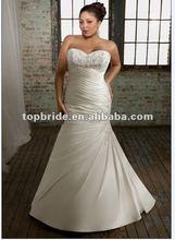 3105 2012 hot sale custom made plus size Mermaid embroidered Wedding Dress