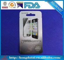 custom hang hole& tear notch aluminum foil plastic pouches for Apple iphone 4s