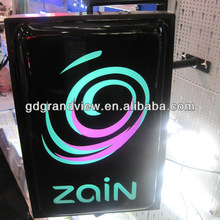 ZAIN square rotating led signage