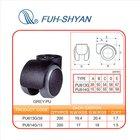 (PU613G/PU614G) Office Grey soft rubber caster