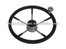 stainless steel steering wheel-W/PU foam & knob