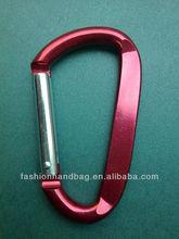 fashion zinc alloy lanyard carabiner hook