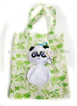 Panda folding shopping bag