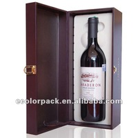 faux leather wine box with eva