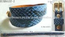 fashion genuine leather/faux snake leather jewelry bracelet bangle