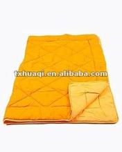plain color coral fleece quilt