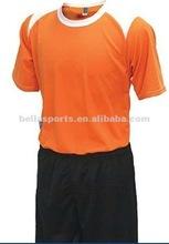 2012 Newest style customized soccer jersey,orange sportswear with shorts