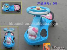 New Poly propylene Children swing car /Popular children our door toys
