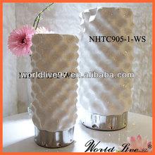 pottery art deco flower vase