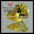 黄色の半貴石広西洋ナシ形状