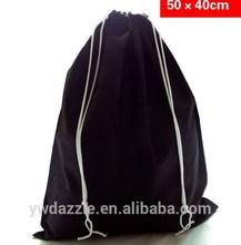 Reflective strips Nylon Non-woven Canvas promotional drawstring promotional bag