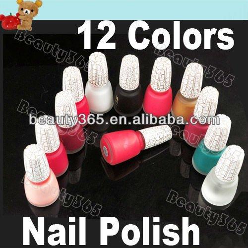Popular 12 Color Cracked Nail Polish Art Shatter New Fashion