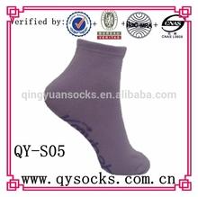 Wholesale custom men anti slip message yoga socks