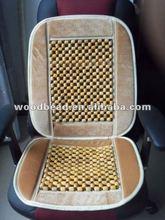 popular wooden bead car seat cover with velvet border