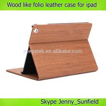 wood like slim smart folio leather case for ipad mini air 2 3 4,for ipad case leather, for ipad mini case folio