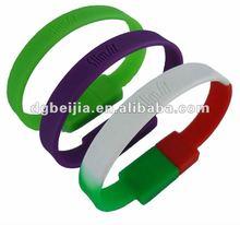 2012 Promotional usb silicone Slap wristband usb Key bracelet