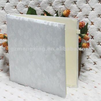 New!!! Pretty White Handmade Wedding Guest Book --- AB001