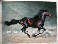 Running horse painting art with customized size acceptalbe