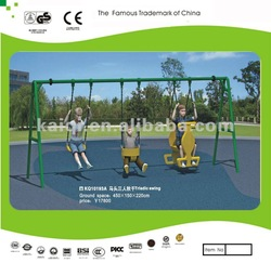 Outdoor swing set-triple swing