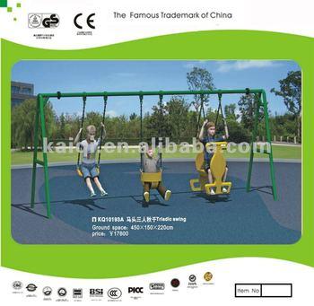 Outdoor swing set-triple swing
