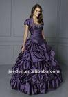 JQ0064 Appliqued detachable dress purple quinceanera dress