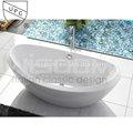 nuevo diseñoitalianoindependiente bañera acrílica con fibra de vidrio wd6001