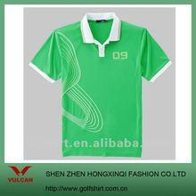 2012 Fashion Green mens printing polo tshirts, accepted custom logo