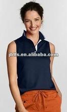 women's 2012 tipped collar tank tops