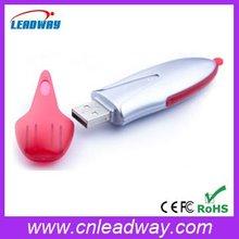 Lanyard pink plastic sward shape USB flash