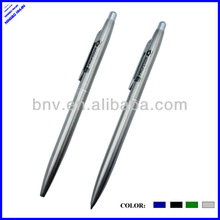 high quality silver color thin metal pens with silver clip