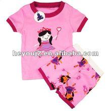 Korean design Customized Fabric embroidered children clothes measurement