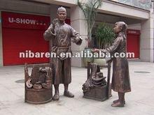 ancient cast bronze Sculpture for garden & square