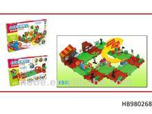 educational B/O block train rail, children intelligent rail toys