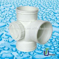 plastic tee w side door DIN/BS /UPVC tees /PVC tee