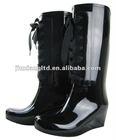 high heel rain boots for women
