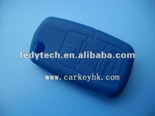 High quality vw 3 buttons silicone remote car key case