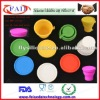 New arrivel colorful mini and cute folding silicone cup with lid for drink