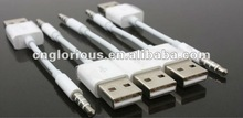 for ipod Shuffle data cable 5th & 6th generation, MP3 usb to 3.5mm adapter cable