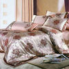 Shanghai silk-like polyester jacquard bedding set manufacture