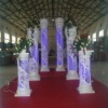 Crystal Decoration crystal wedding pillars / wedding props with LED lights