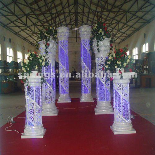 Crystal Columns Pillars For Weddings