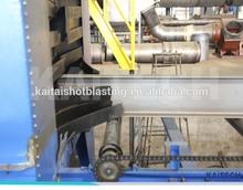 H beam, steel profile, section shot blast machine / sand blasting equipment