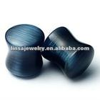 New arrival Black Cat's eye nature stone plug body piercing jewelry