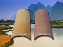 Pan terracotta roof tile design
