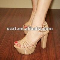 hot ladies strips peep toe shoes
