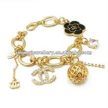osFashion gold plated 4000 ions charm bracelet rose charm bracelet wholesales