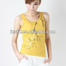 Fashional Plum Blossom design cotton vest for women